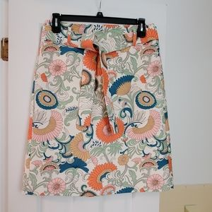 J. Crew floral print a-line skirt, size 10